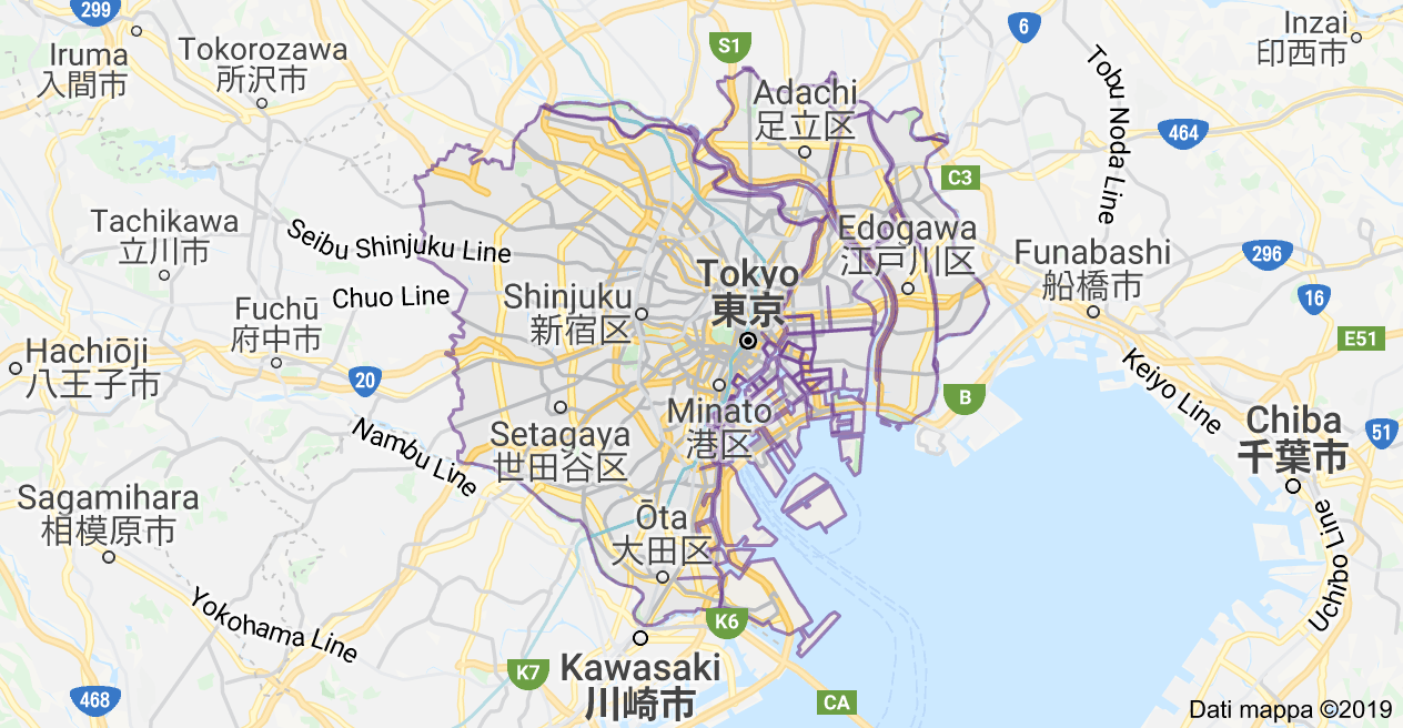 mappa tokyo