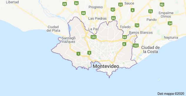 mappa montevideo