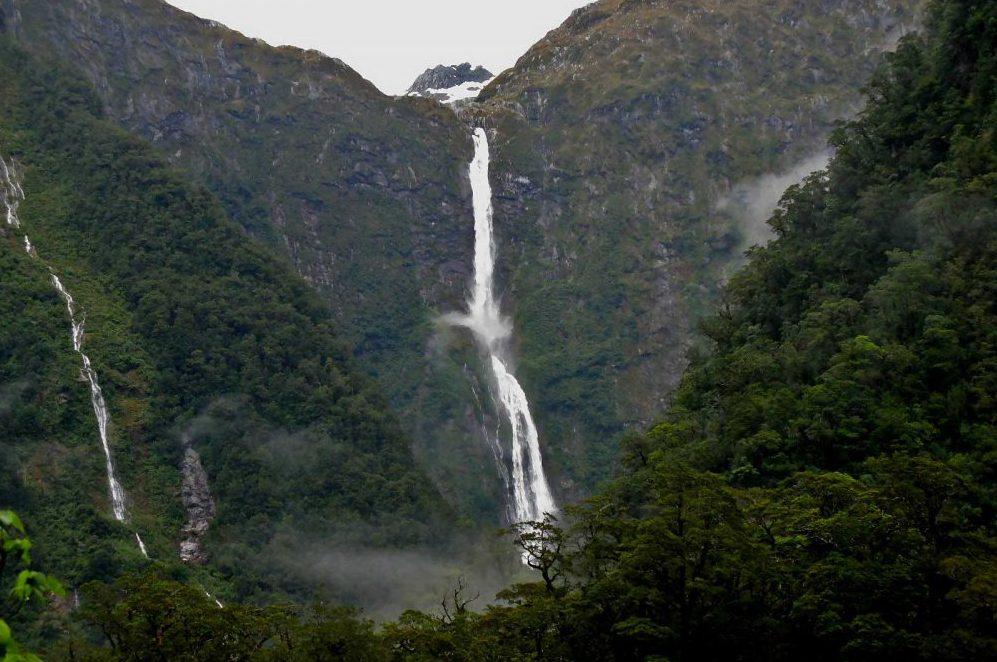 cascate Sutherland Falls foto